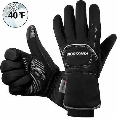 Kingsbom Waterproof  Windproof Thermal Gloves - 3M Thinsulate Winter Touch Scre