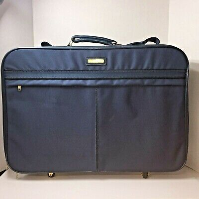 Vintage American Tourister Soft Side Blue Luggage Suitcase Rolling Prop