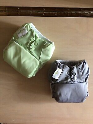 Lot of 2 Bumgenius Cloth Diapers with 4 Inserts EUC