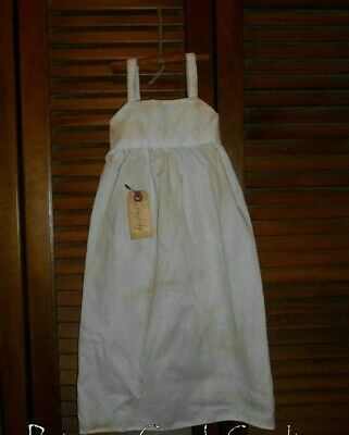 Grungy Prim WALL DRESS Primitive Decor GREEN TOILE with Bow Cupboard Hanger