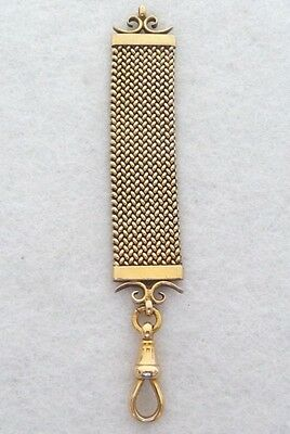 Vintage Late Victorian or Early Edwardian 15K Gold Mesh Watch Fob