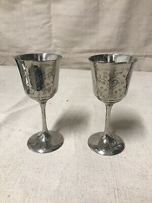 German Silver plated chalice vintage, set of 2