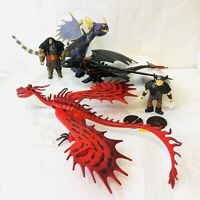How to Train Your Dragon Hookfang Toothless Deadly Nadder 2013 Defenders Berk +