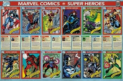 MARVEL COMICS 80TH ANNIVERSARY 22x34-17500 CHARACTER FACE COLLAGE POSTER