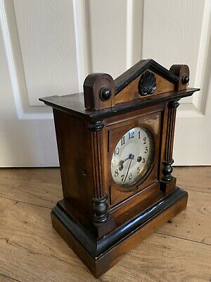 Beautiful vintage wooden Wind Up Clock With Gong