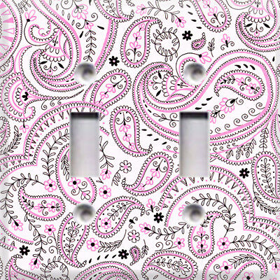 Baby Pink Paisley Themed Light Switch Cover Plate ~ Choose Your Cover