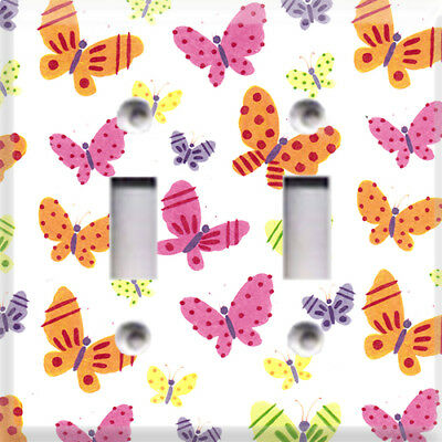 Colorful Baby Butterflies Themed Light Switch Cover Plate ~ Choose Your Cover