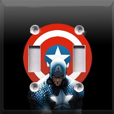 Captain America #2 Themed Light Switch Plate Cover ~ Choose Your Cover ~