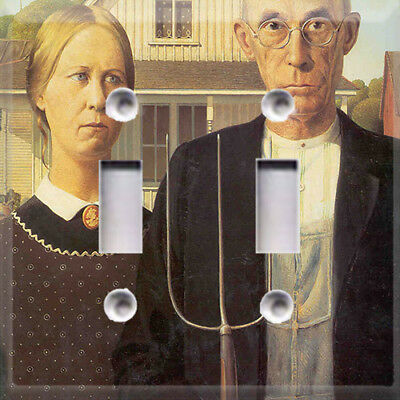 Historic Art American Gothic Themed Light Switch Cover Choose Your Cover
