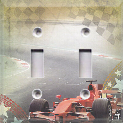 Dragster Racing Themed Light Switch Plate Cover ~ Choose Your Cover Kid's Room ~