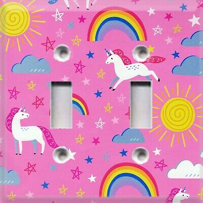 Unicorns & Rainbows Themed Light Switch Cover Choose Your Cover Kids Decor