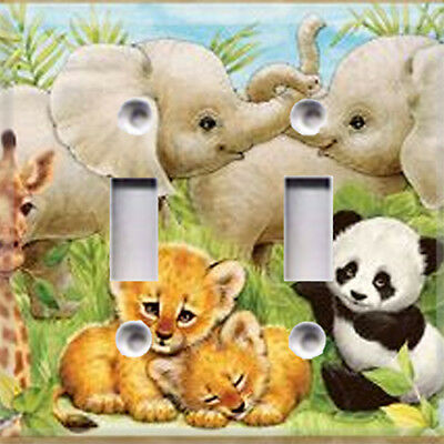 Jungle Baby Animals #2 Themed Light Switch Plate Cover ~ Choose Your Cover ~