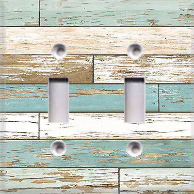 Distressed Beach House Themed Light Switch Plate Cover ~ Choose Your Cover ~