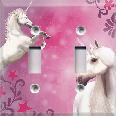 Unicorns Themed Light Switch Plate Cover ~ Choose Your Cover ~ Girls Room Decor