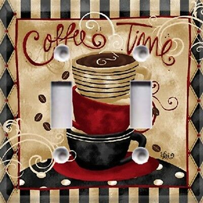 Coffee Time Themed Light Switch Plate Cover ~ Wall Plates ~ Kitchen Decor ~