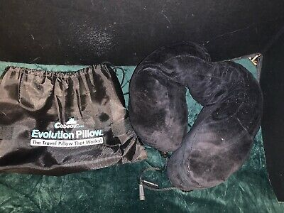 Cabeau Evolution Memory Foam - Classic Travel Pillow Black W/ Washable Cover Bag