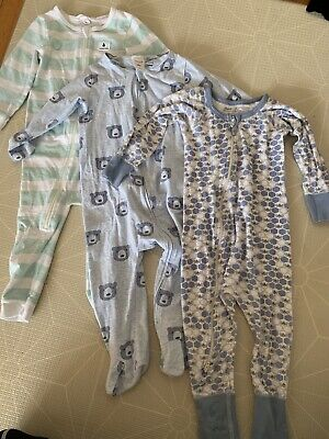 3 X Zip One Piece Sleep Suit 12-18 Months - Country Road, Seed, Sapling