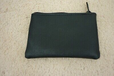 LADIES COMPASS PLAIN BLACK LEATHER CARD COIN HOLDER PURSE WALLET PUR307 GIFT