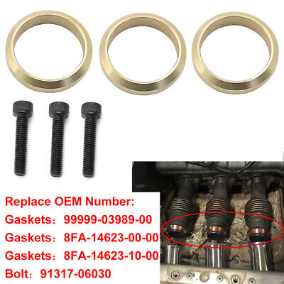 Copper Exhaust Gasket Set For Yamaha Snowmobile Nytro Vector Replace 99999-03989