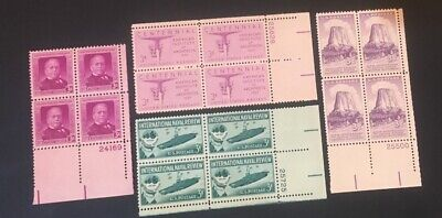 4 Different MNH .03 plate Blocks...as Pictured... Lot 102