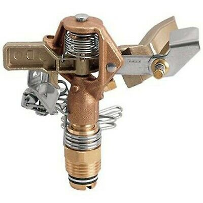 Orbit Sprinkler System 1/2-Inch Brass Impact Head with 20-40-Foot Coverage 55032