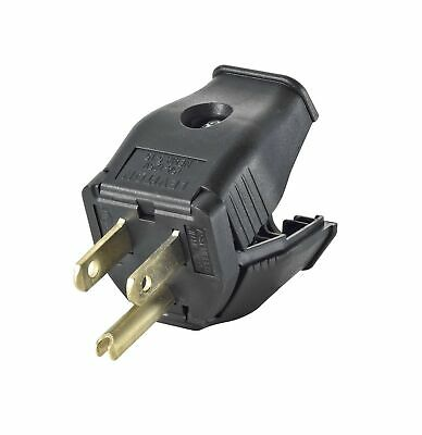 Leviton 3W101-E Not Available Hinged Design Electrical Plug, Black