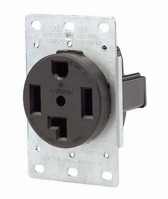 Leviton 071-00278-000 4 Wire 30 Amp 250 Volt Flush Mount Dryer Receptacle