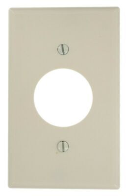 Leviton 78004 Locking Single Receptacle Straight Blade Wall Plate, 1 Gang, 4-...