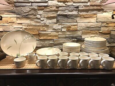 """Crate & Barrel """"ORCHID"""" By Royal Stafford Tableware Dish Set Of 54 Pieces"""