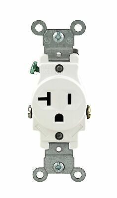Leviton 102-05801-WSP 20-Amp 125-Volt Single Receptacle Electrical Power Outl...