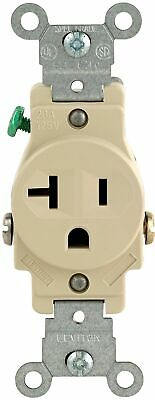 Leviton 101-05801-ISP 20-Amp 125-Volt Single Receptacle Electrical Power Outl...
