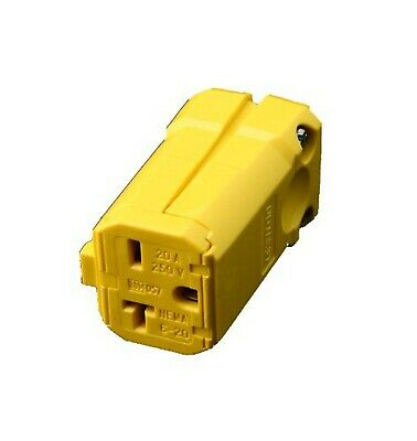 Leviton 5459-VY 20 Amp, 250 Volt, Connector, Straight Blade, Industrial Grade...