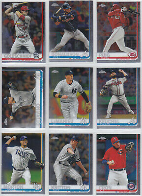 2019 Topps Chrome Update Baseball #1-100 You Pick the Card Finish Your Set