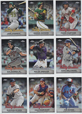 2019 Topps Chrome Update The Family Business You Pick the Card Finish Your Set