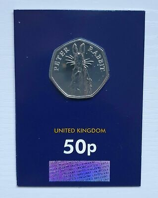 ***2019 PETER RABBIT 50p Pence Coin BRILLIANT UNCIRCULATED***