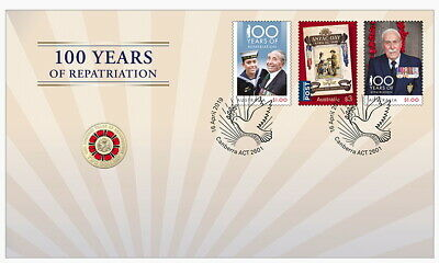 2019 Bring Them Home - 100 Years of Repatriation $2 PNC - Stamp & Coin Cover