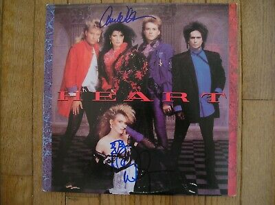 HEART AUTOGRAPHED ALBUM VINYL LP by ANN & NANCY WILSON - FREE SHIPPING!!!