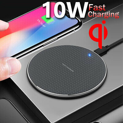 For Apple iPhone 8 XR XS 11 Pro Max Qi Wireless Charger Dock Pad Mat Charging
