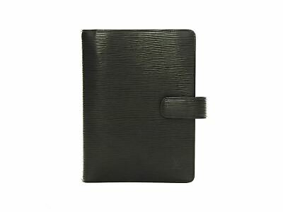 Authentic Louis Vuitton Agenda Functionnel MM black Epi Leather