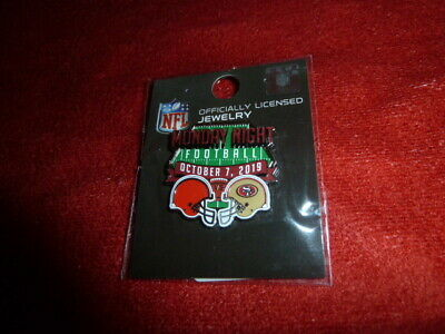 49Ers Game Day Pin Cleveland Browns 10 7 2019 Levi Stadium  Monday Night