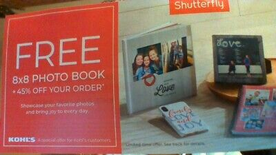 FREE Shutterfly 8x8 Photo Book + 45% Off Order