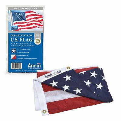 American Flag 3x5 Nylon Embroidered Stars Sewn Stripes Heavy Duty USA Outdoor US