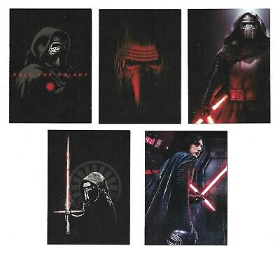 2019 Topps Star Wars Journey to Rise of Skywalker Kylo Ren Continuity 5 Card Set