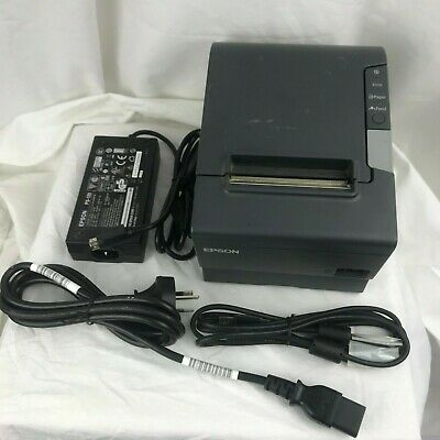 Used Epson TM-T88V M244A Thermal POS Receipt Printer USB RS232 Auto Cut 80mm POS