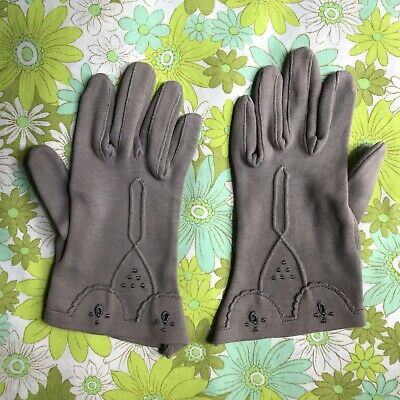 Vintage Manton's Melbourne GLOVES evening 50s ladies accessory pair West Germany