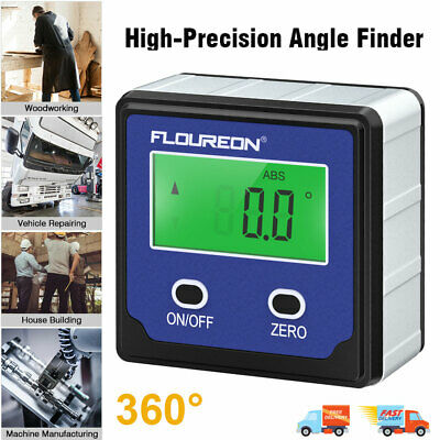 Digital Angle Gauge Level Angle Meter Finder Protractor Bevel Box Magnetic Base