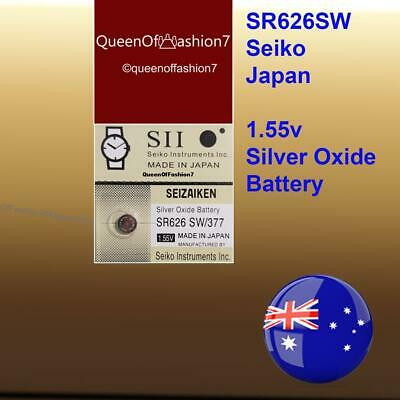 1x Seiko SR626SW  QueenOf7 Japan Made Silver Oxide 377/AG4 Battery Batteries