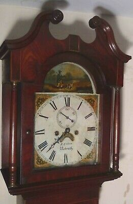 "Antique Mahogany Hunting Dial "" Redruth ""  Longcase / Grandfather Clock"