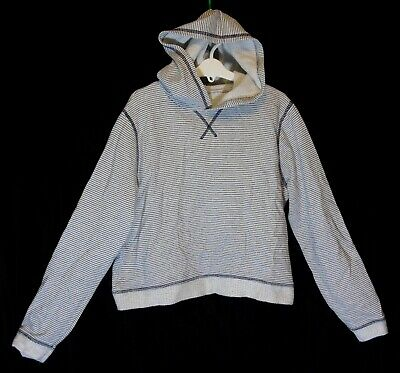 Girls Matalan Grey White Stripe Cropped Dance Hooded Sweater Hoodie Age 15 Years