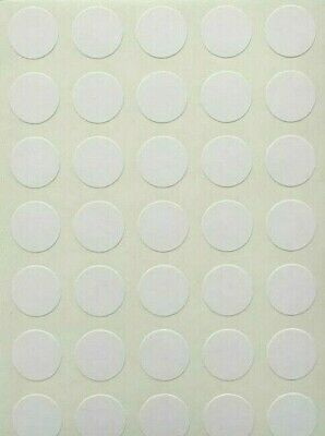 105 Small White Round Sticky Dots 13mm Circles Self Adhesive Stickers Labels